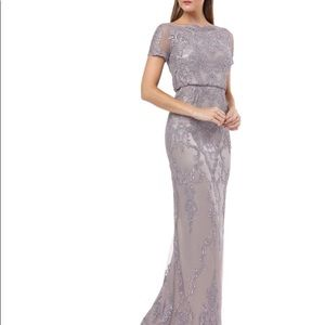 JS Collections Embroidered Evening Dress